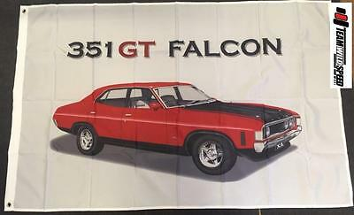 Ford Falcon 351 Large Flag Banner Mancave Workshop Garage