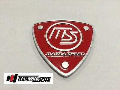 Mazdaspeed Badge Red Mazda RX7 RX8 Mazda 3 6 RS RB Spirit R Type A Type B MPS