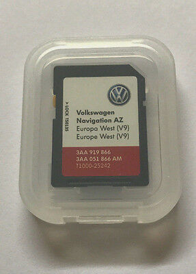 Vw Skoda Seat Amundsen Rns 315 Az V9 Navigation Sd Card Uk + Europe Map Update