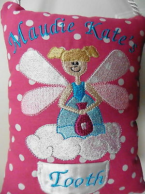 Tooth Fairy Door Hanger Pillow Girls or Boys Made to Order