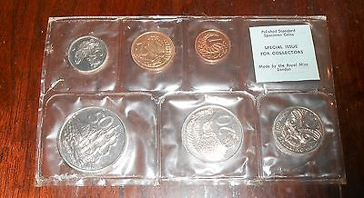 Nice New Zealand 1968 Polished Standard Specimen Coin Set Mint Sealed
