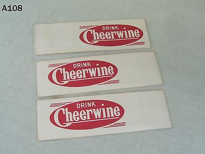 Vintage Cheerwine Cherry Soda Pop Drink Advertising Paper Store Hat Lot Set Old