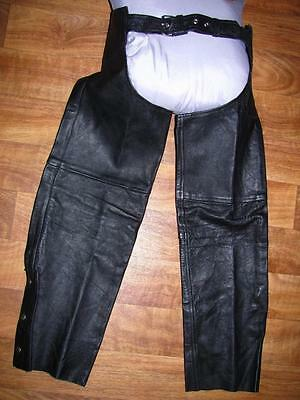 Shaf Leather Collections Men's Leather Chaps, Black, NWOT, Sz. S