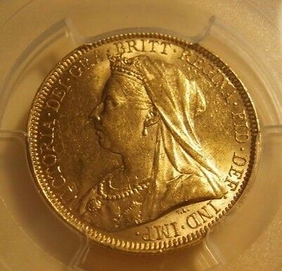 1893 Great Britain Sovereign - Pcgs Certified Au58 Gold Coin * Free Shipping*