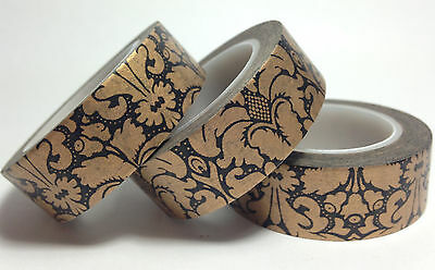 Washi Tape  Bronze Regal 15Mm X 10Mtrs  Scrap Plan Craft Wrap