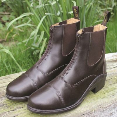 MARK TODD CHETWODE BOOTS COGNAC zipped paddock adult horse rider leather boot