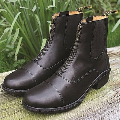 MARK TODD CHETWODE BOOTS BLACK zipped paddock adult horse rider leather boot