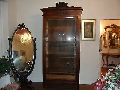 Magnificent French Antique Armoire W Lg.glass Door
