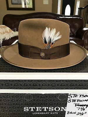 """Stetson """"stetsonian"""" Royal Deluxe Tawny Size 7 1/8 Limited Edition Fedora!"""
