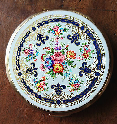 Vintage enamelled powder compact - Stratton Made in England