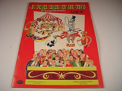 1959 Hanna Barbera Huckleberry Hound Playbook Unused  Press Out