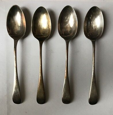 antique sterling silver spoons set of 4 mark s. blanckensee & sons ltd