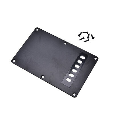 1Pc black guitar tremolo spring backplate cover for electric guitar durable u4d