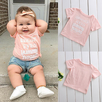 Summer Tee Baby Boy Girl Infant Clothes Short Sleeve T-shirt Tops 0-24M Cotton