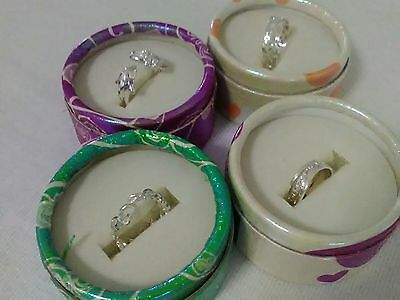 TOE RING PACK OF 4 SILVER FASHION RINGS ADJUSTABLE 4 DESIGNS FREE GIFT & POST 4b