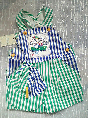 Baby Togs Vintage  3T Sailor Fisherman Boater Romper with Hat 100% Cotton