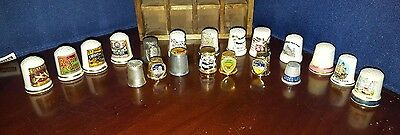 20 Different Thimbles in a special Curio box