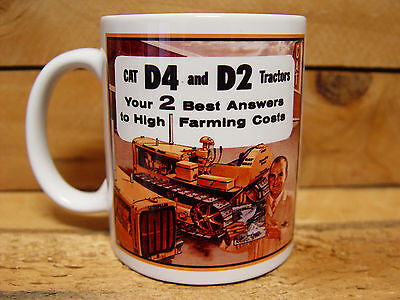300ml COFFEE MUG - CATERPILLAR D2 AND D4 TRACTORS
