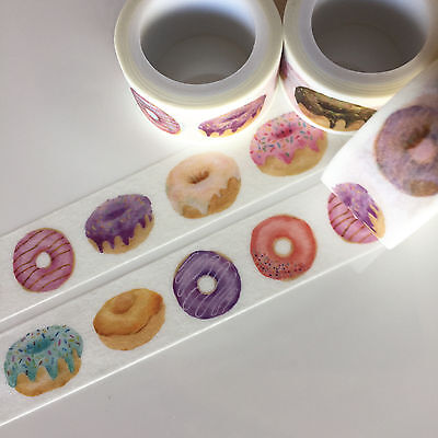 Washi Tape Wide Delicious Donuts 20Mm X 5Mtrs Craft Wrap Plan Scrap