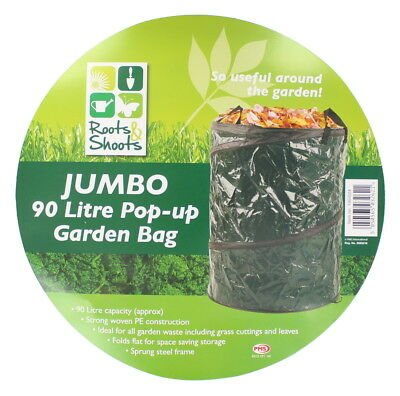 Roots & Shoots 90 Litre Jumbo Pop Up Garden Bag/ Bin