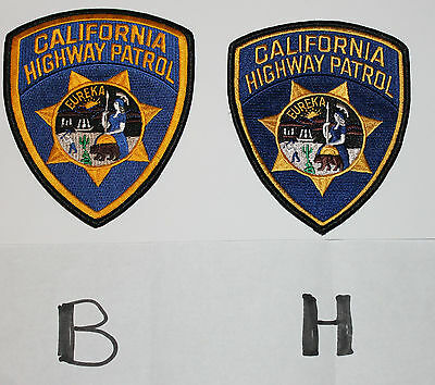 "CHP CALIFORNIA HIGHWAY PATROL CHiPs CA State Troopers Police ""Pick One, B or H """