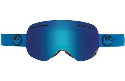 Dragon X1s Frameless Snow Goggles Azure - Blue Steel + Yellow Red Ion Lens