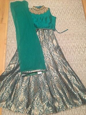 Gorgeous Ladies Bollywood Lengha Brocade Skirt Brand New