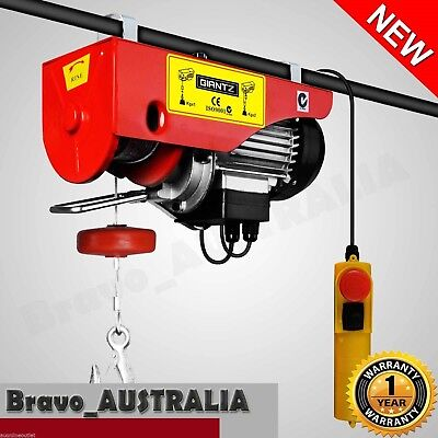 Electric Hoist Winch 400kg / 800KG Garage Overhead Ceiling Rope Lift Crane 1300W