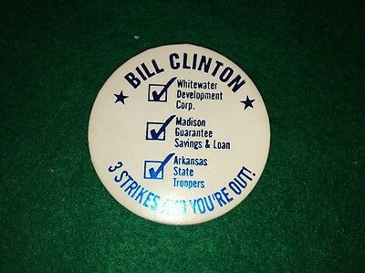 Rare Bill Clinton 3 Strikes And You're Out! Pog, Whitewater, Madison S&L!!!