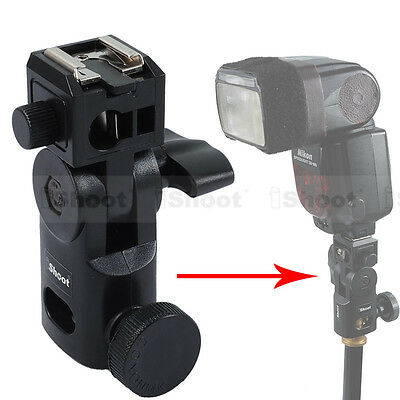Flash Bracket/Umbrella Holder-Metal Hot Shoe Mount-15.8mm Hole for Light Stand