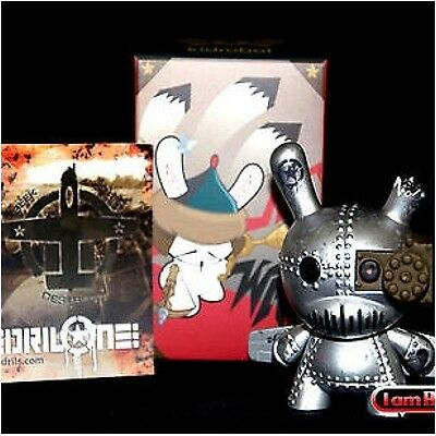 Kidrobot Art Of War Dunny Series 3 Inch Tank Destroyer DrilOne Silver 1/60 Chase