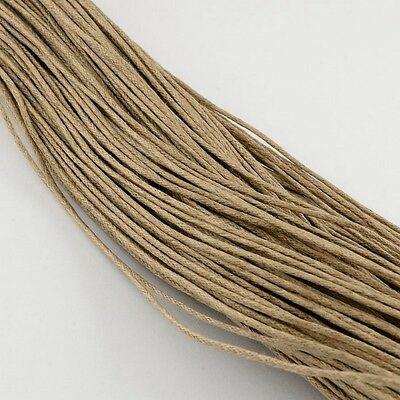 3 Meter TAN COTTON WAXED Cord Thread String Craft Work 0.7mm Dia(YC-S005-278)