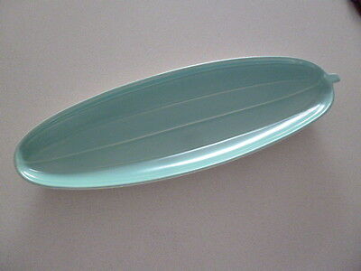 Poole Pottery Cucumber Serving Dish Mushroom/Ice Green C96