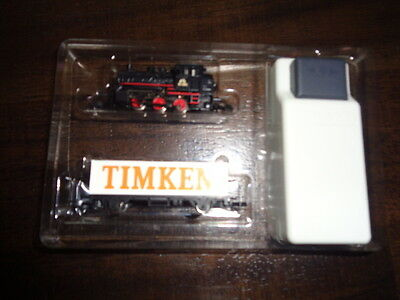 (V4-F) Marklin Z Scale Locomotive Mini Club Start- Set With Car Timken Used