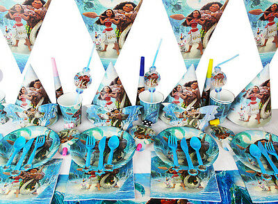 90Pcs/Set Moana Kids Party Decoration Birthday Party Pack Party supplies Z960