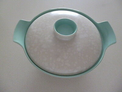 Poole Pottery Large Serving Dish Seagull/Ice Green C57 with Lid
