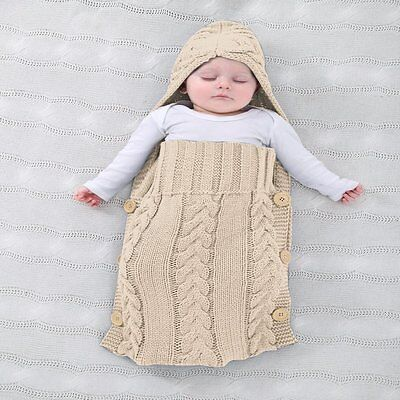 Colorful Newborn Baby Wrap Swaddle Blanket, Oenbopo Baby Kids Toddler Wool Knit