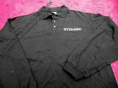 TITANIC MOVIE SET 1997 CREW MEMBER EMBROIDERED SHIRT OFFICIAL 20th FOX NEW RARE