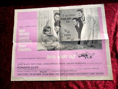 Tony Randall Autographed Signed Person Sheet Poster 1962 Boys' Night Out