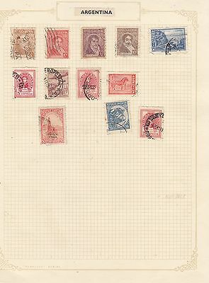 ARGENTINE Stamps Good Selection on page Most Fine Used..
