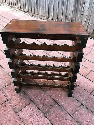 Wooden wine rack (holds 30 bottles) (two a set)