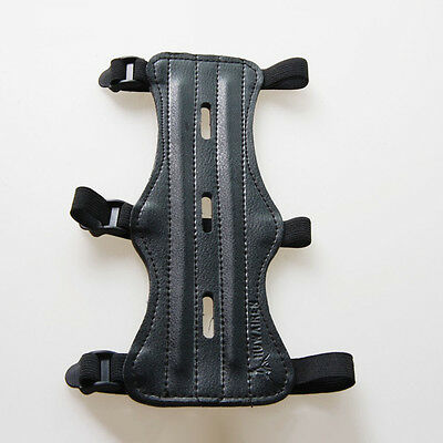 Archery Arm Guard Long Adjustable 3 Strap Shooting Bow String Arm Protector Gear