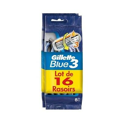 GILLETTE Rasoir jetables blue 3x16 2x8