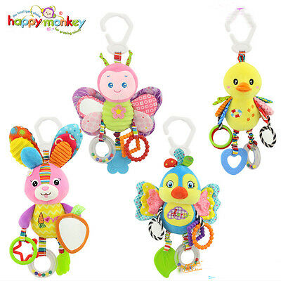 Baby Infant Rattles Plush Animal Stroller Hanging Bell Play Toy Doll Soft Bed