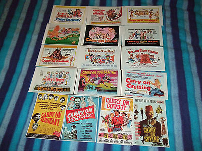 Carry On - UK Quad Poster Postcards x16 london postcard company