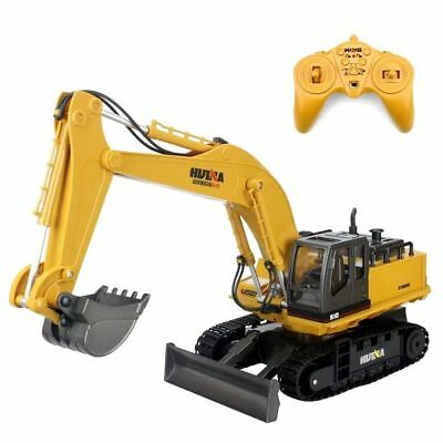 Kids Childs Radio Controlled Truck Excavator Loader Digger Construction Toy 1/16