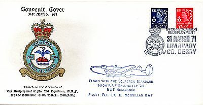 GB 1971 RAF- COVER - THE REDEPLOYMENT OF No.204 SQUADRON