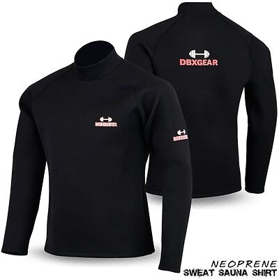 DBXGear Neoprene Sweat Shirt Rash Guard Sauna Weight Loss Top Unisex