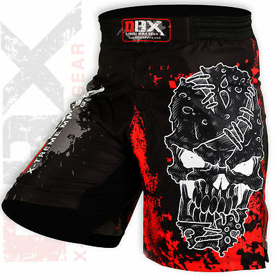 DBXGear MMA Grappling Kick Boxing Muay Thai Shorts Sublimated Black