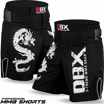 DBXGear MMA Grappling Kick Boxing Muay Thai Shorts Black